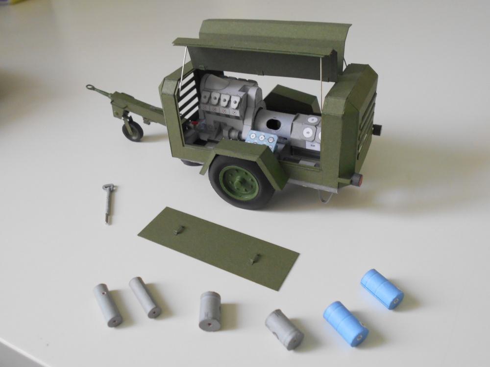 DK 661 - přívěsový kompresor - mladší typ