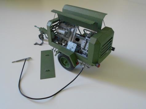 DK 661 - přívěsový kompresor- mladší typ