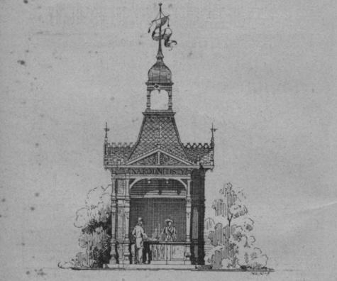 Kiosek Národní listy 1891
