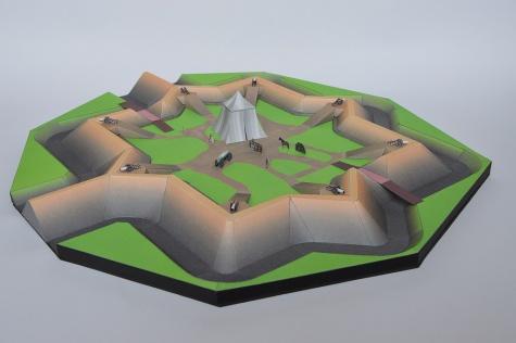 Hviezdicovita pevnost z Malych sancov pri Ciernom