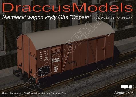 železniční vůz Ghs Oppeln