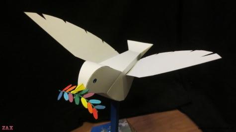 Peace Dove - paper automata