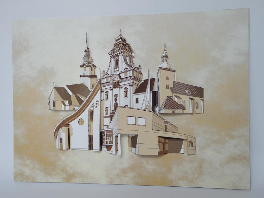 Kostoly v Prievidzi - reliéf