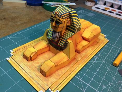 sfinga a pyramidy