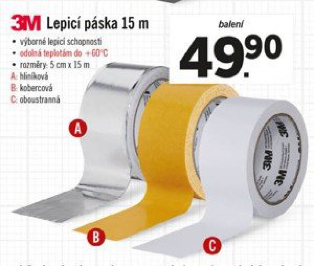 Oboustranná páska 3M