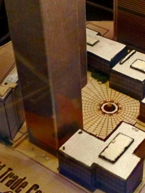World Trade Center (WTC), Twin Towers - miniature scale model - 1:4350