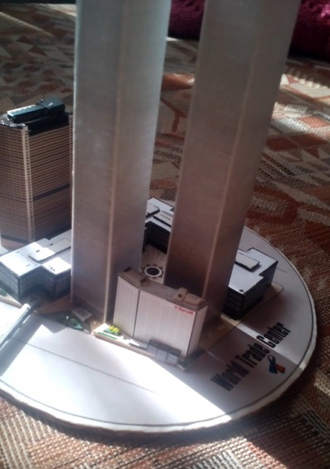 World Trade Center (WTC), Twin Towers - miniature scale model - 1:4400