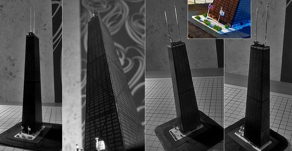 John Hancock Center skyscraper paper model