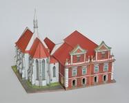 Stará radnice a kostel sv. Víta v Sobìslavi