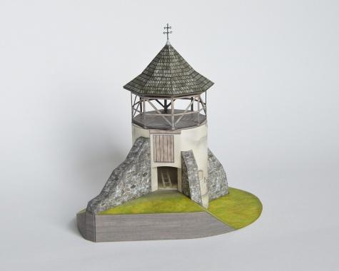 Strážna bašta opevnenia zaniknutého kostola, Žibritov