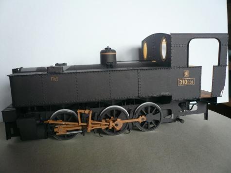 """Parní lokomotiva 310.091 """" Kafemlejnek """""""