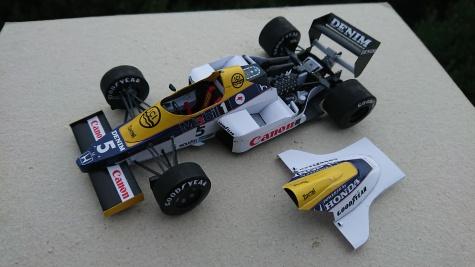 Williams FW09B Honda - Nigel Mansell - Brazil-Jacarepaqua 1985 testing
