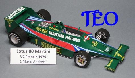 Lotus 80 Martini Mario Andretti VC Francie 1979