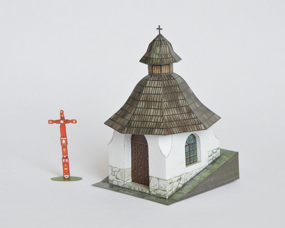 Kaplnka na symbolickom cintoríne vo Vysokých Tatrách
