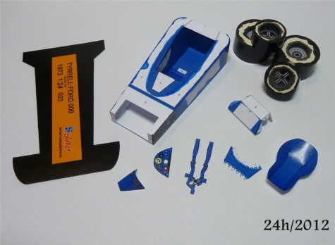 24-hodinovka 2012 Tyrrell 006 ´73