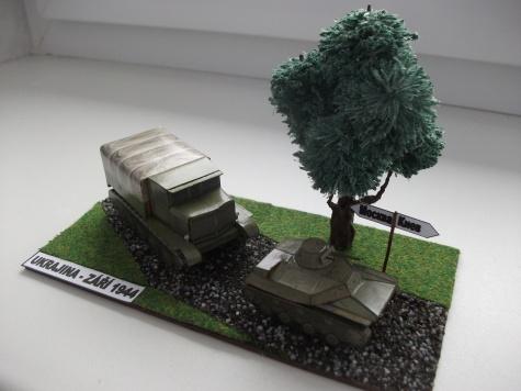 Vojenská technika - dioráma