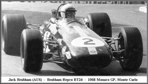 Brabham BT26, Monaco GP, Jack Brabham, 1968
