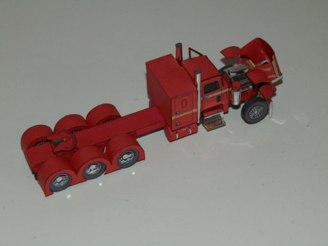 Peterbilt 359 + cozad wind tower trailer