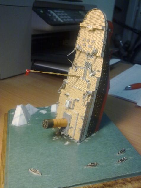 Dioráma - potopený Titanic