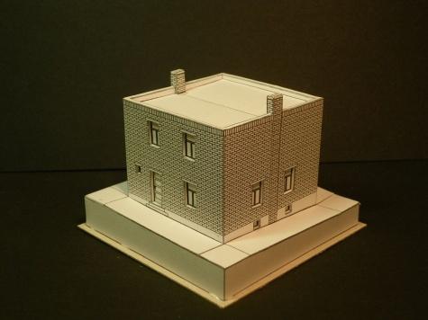 Dvojdomek s plochou střechou Zlín 1927