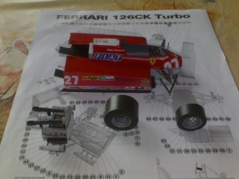 Ferrari 126CK Turbo / R. RADEVICZ/ 1:24