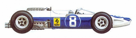 Ferrari 1512, Mexico GP, Lorenzo Bandini