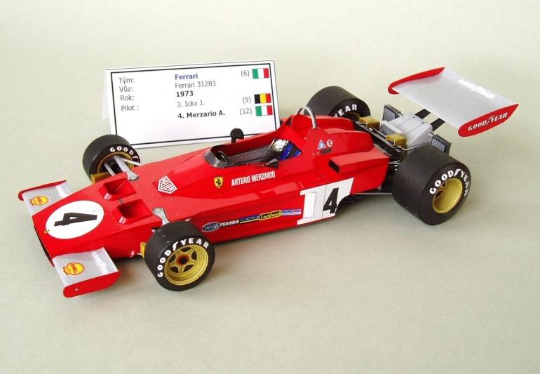 Ferrari 312B3 (1973; Merzario)