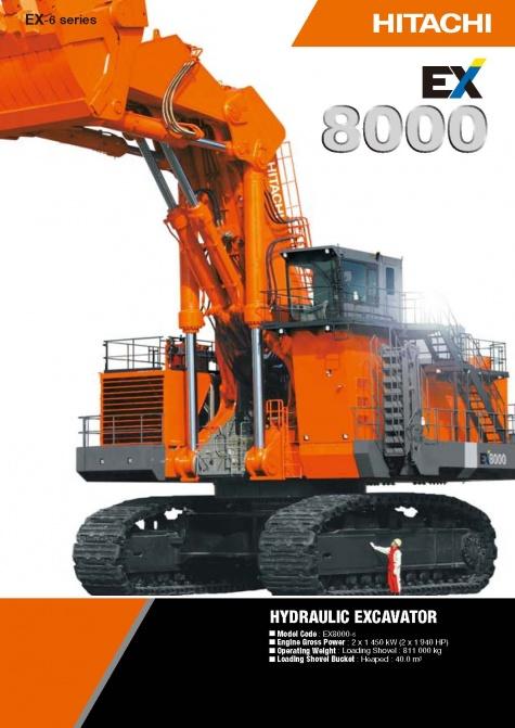 HITACHi EX 8000