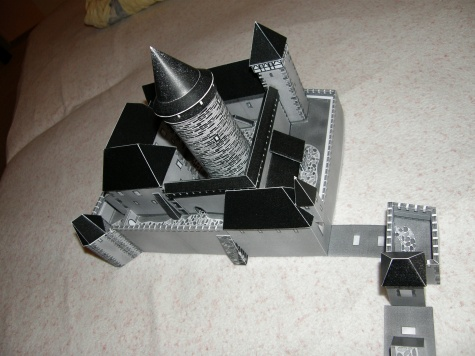 kontrolní stavba hradu Cvilín