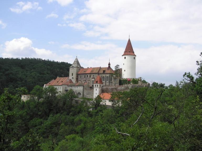 Hrad Křivoklát - foto skutečné stavby