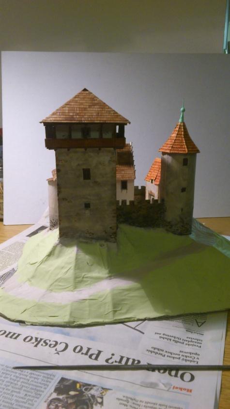 Hrad pro modelové kolejiště