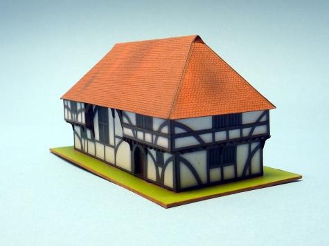 Hrázděný halový dům z Bayleaf