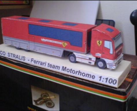 IVECO STRALIS FERRARI team Motorhome