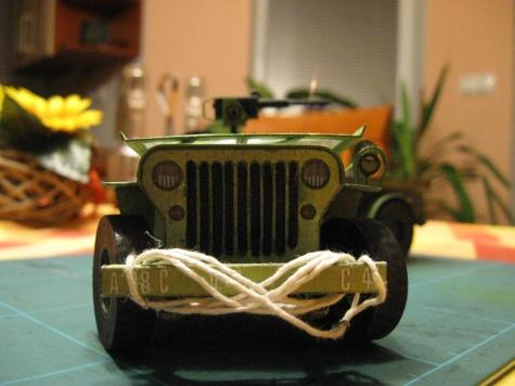Jeep Willys MB s přívěsem