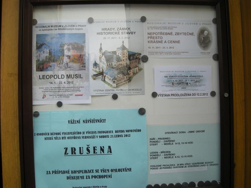 Jílové u Prahy - výstava modelů architektury