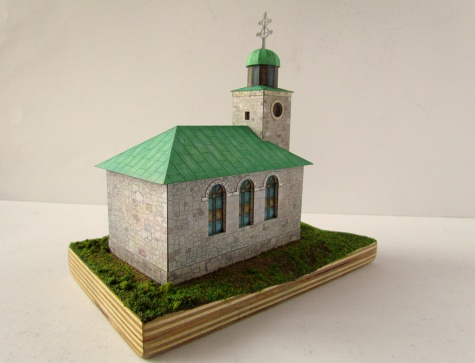 Kamenný kostel nad Kalvárií Kysucká obec Oščadnica