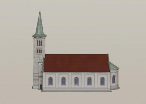 kostel sv. Kateřiny ve Slezských Rudolticích
