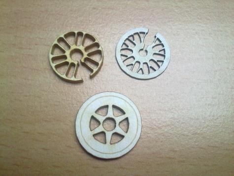Laserem řezané doplňky k modelům