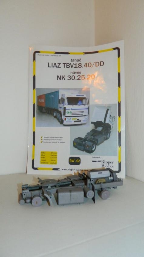 Liaz TBV18.40 DD + návěs NK 30.25.20