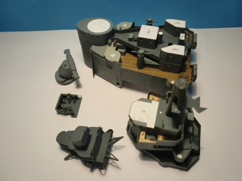 PAPER MODELS - BISMARCK, HOOD, TIRPITZ, SCHARNHORST, FUSO, YAMATO 1:200 20130519112034-206876-v
