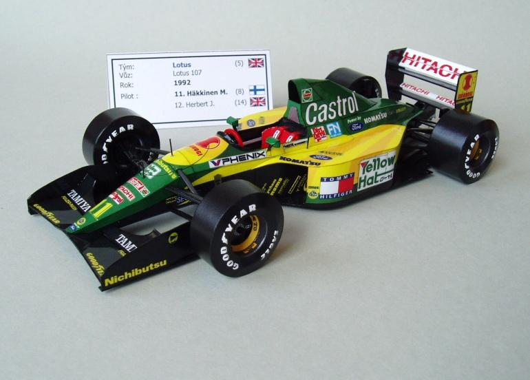 Lotus 107 (1992; Hakkinen)