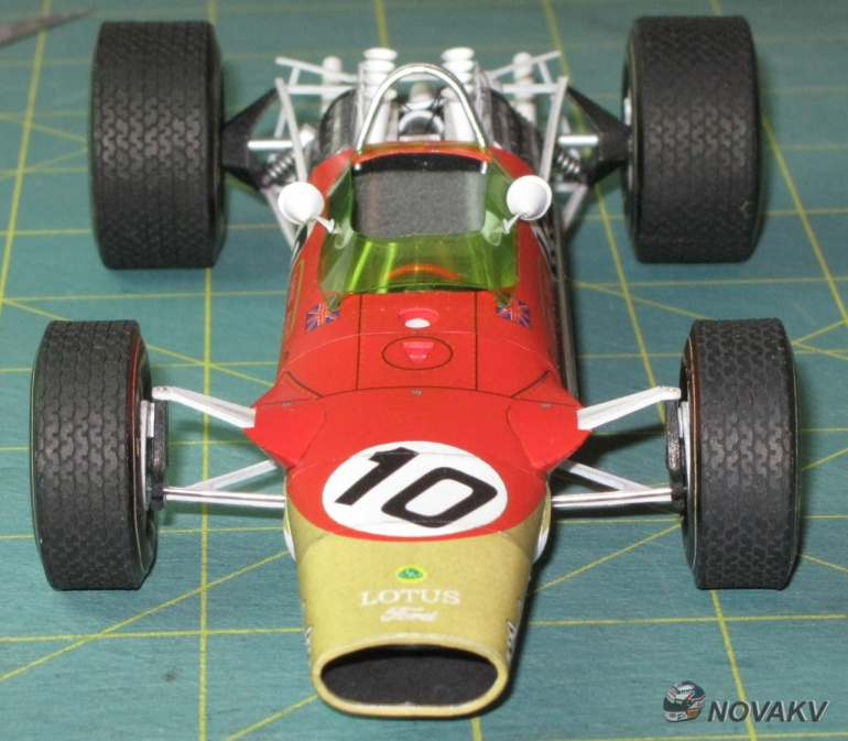 Lotus 49, G. Hill, GP Spain 1968 - beta