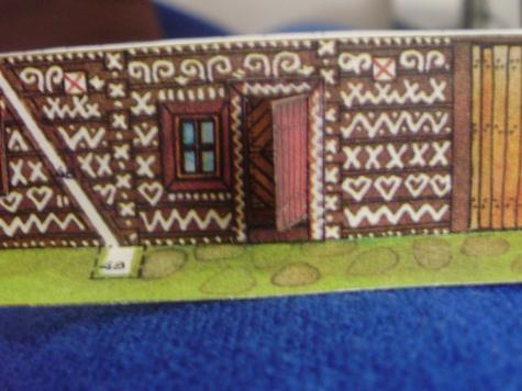 Malované srubové stavby z Čičman