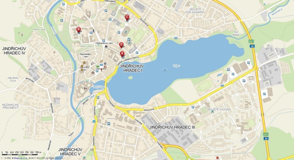 Mapa Hradec