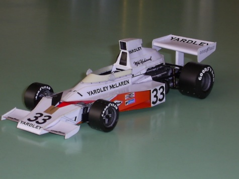McLaren M23  Mike Hailwood  GP Francie 1974