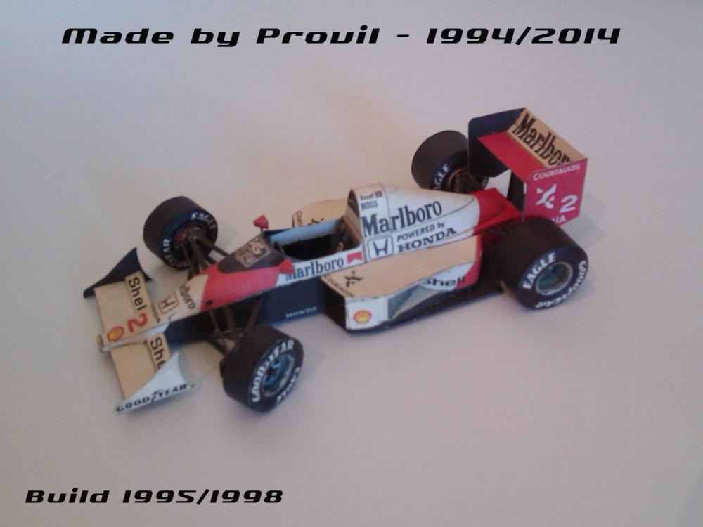McLaren MP 4/5 - (2) Alain Prost