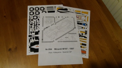Minardi M197, 1997 Ukyo Katayama