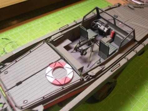 Motorový člun MO-634,podvozek SP-5