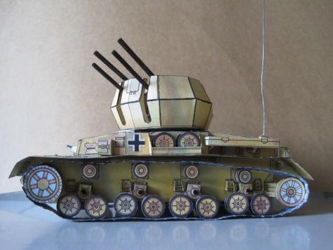 německý tank WW II vzdušný vir