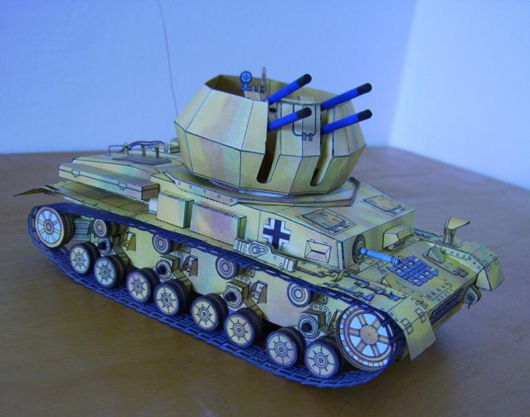 Německý tank WW II Vzdušný vír